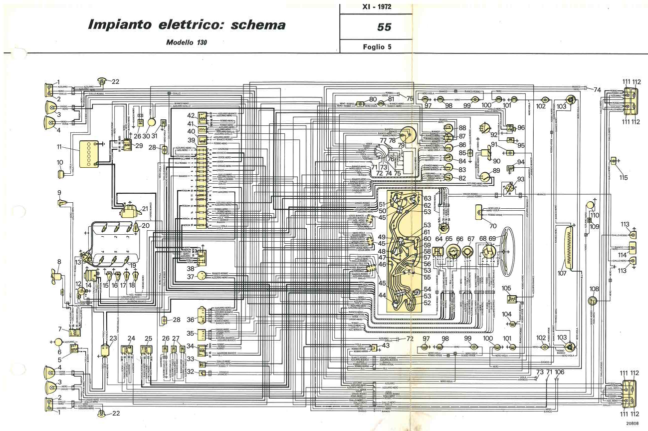 Electrical system, wiring diagram | De Nederlandse Fiat 130 website