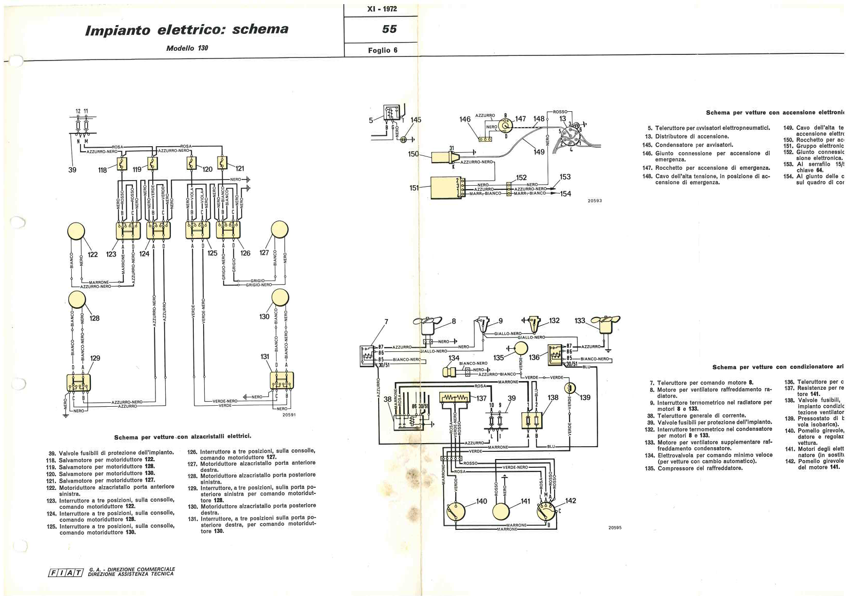 Fiat 130 Wiring Diagram Reinvent Your Electrical System De Nederlandse Website Rh Fiat130 Nl 1979 Spider Ignition 124 Body