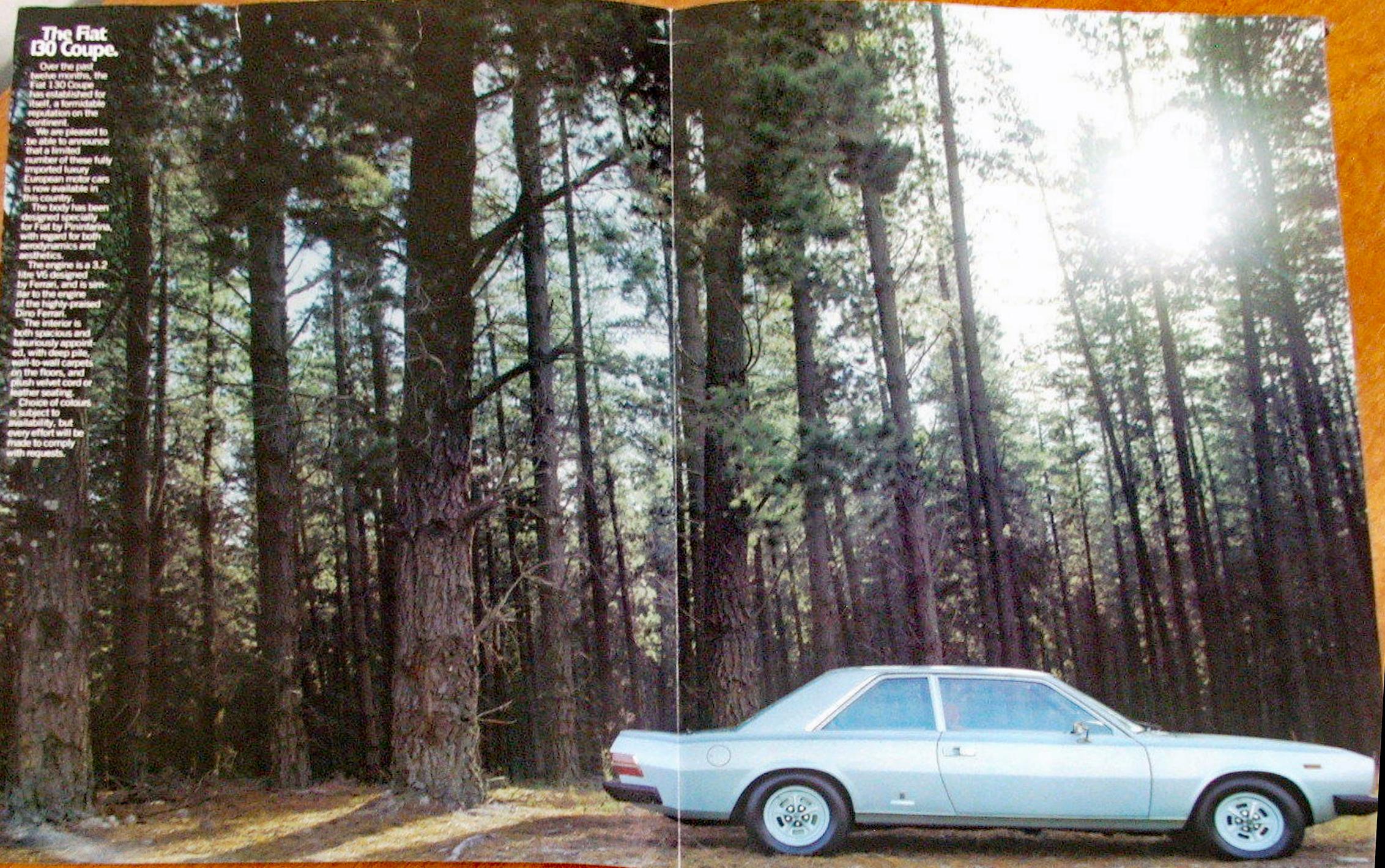 1972-Fiat-130-Coupe-original-Australian-large-format-4-page-brochure