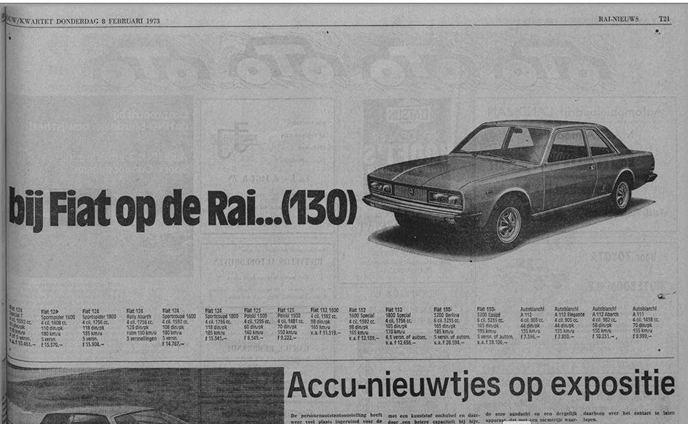 Fiat 130 reclame