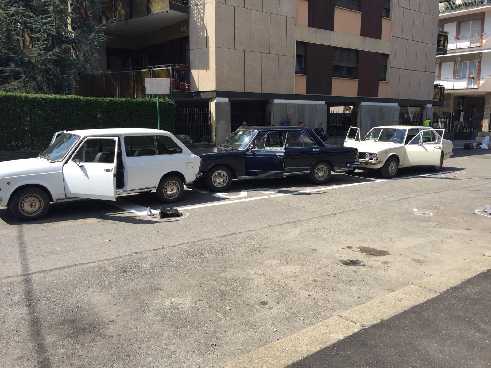photo shoot kidnap Aldo Moro Fiat 130