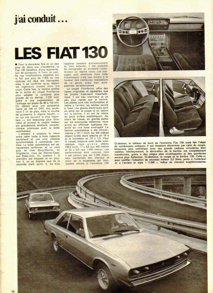L' Auto-Journal 1971 Fiat 130