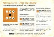 Fiat 130 coupe con cambio meccanico