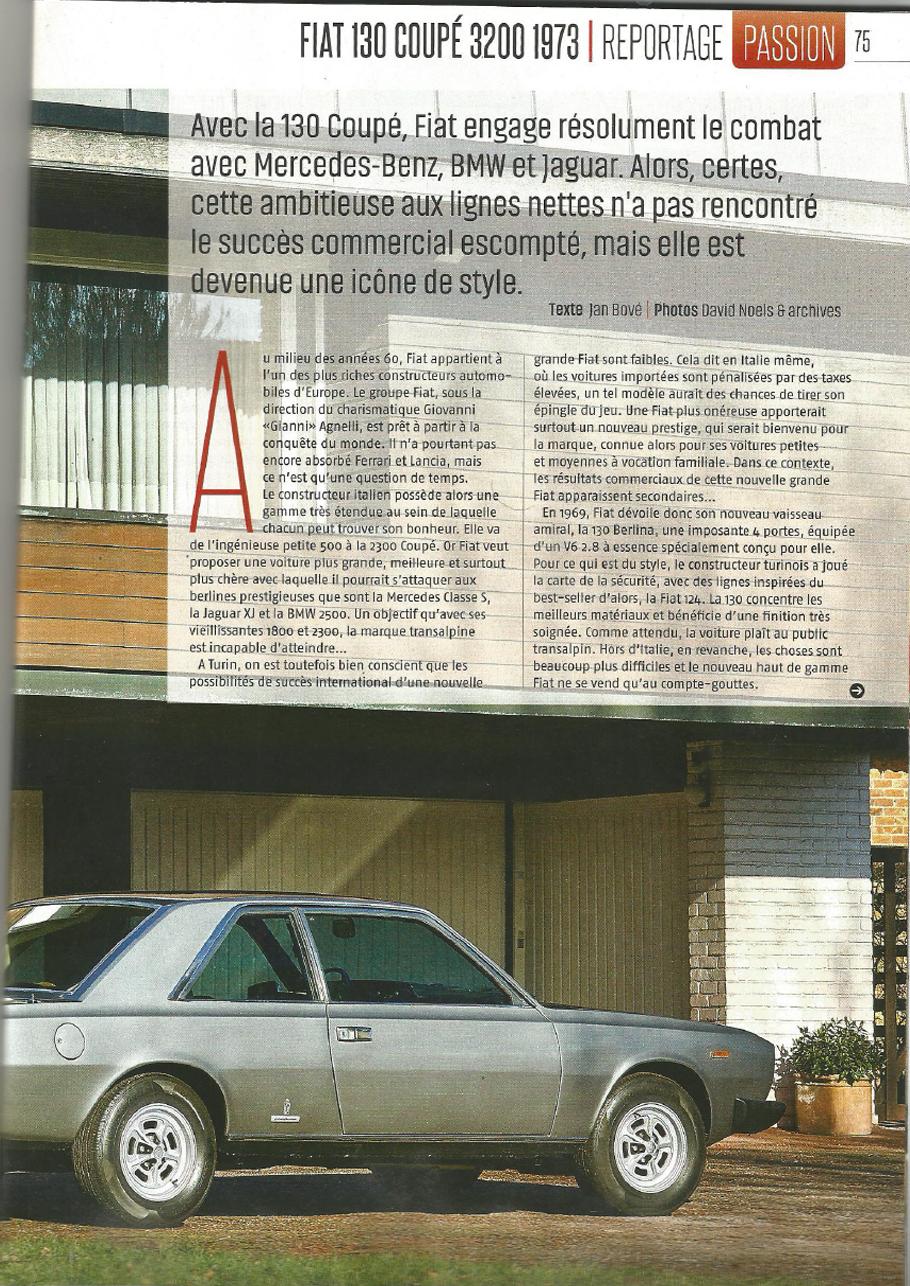 Fiat 130 Le Moniteur Automobile