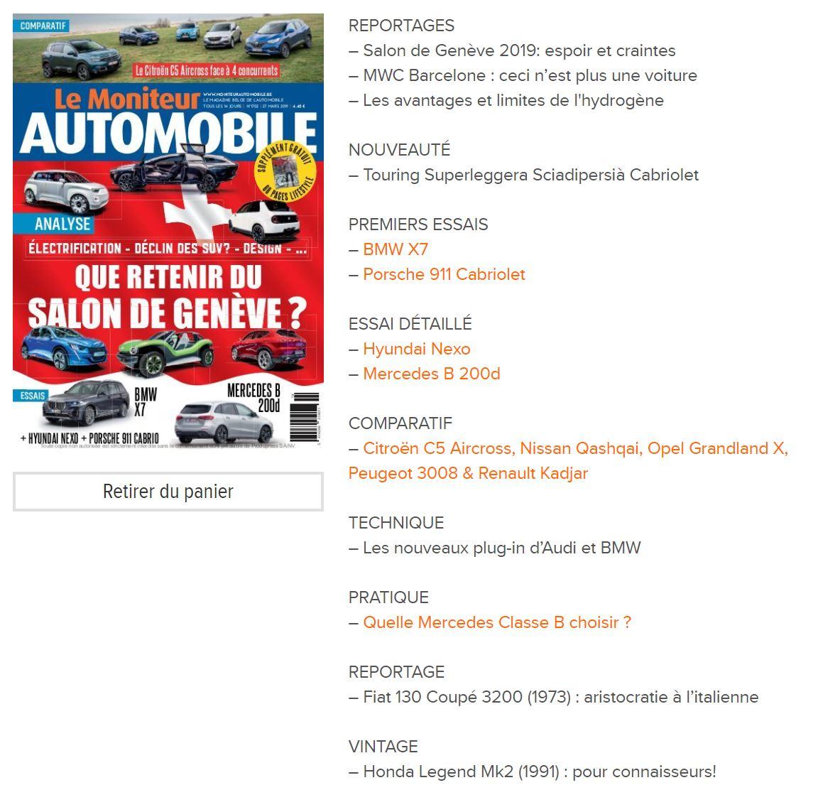 Moniteur Automobile magazine n° 1702