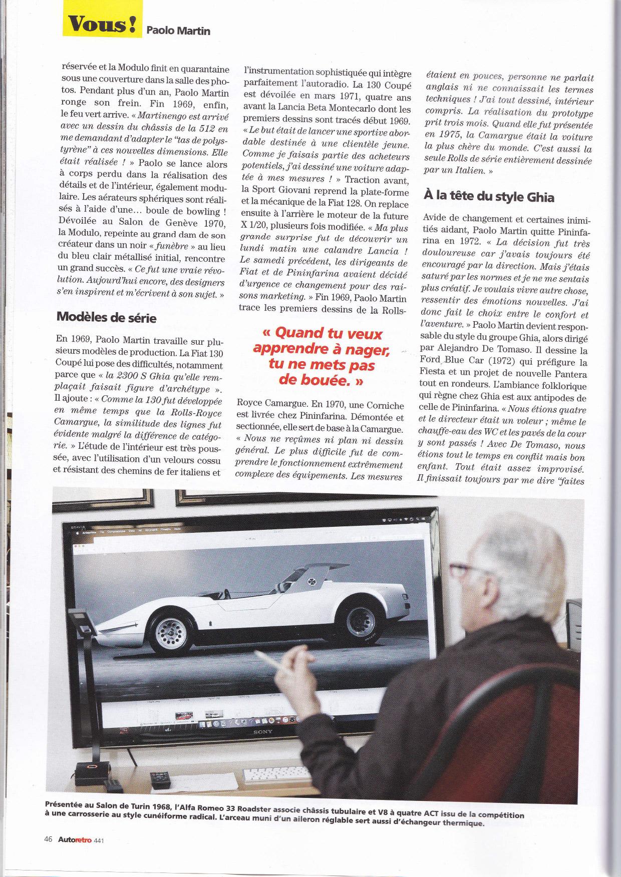 Autoretro 2019 Paolo Martin Fiat 130