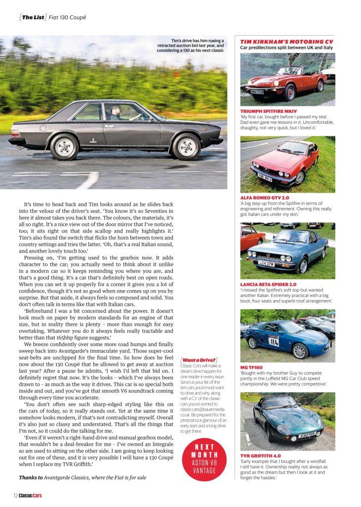 Classic Cars Fiat 130