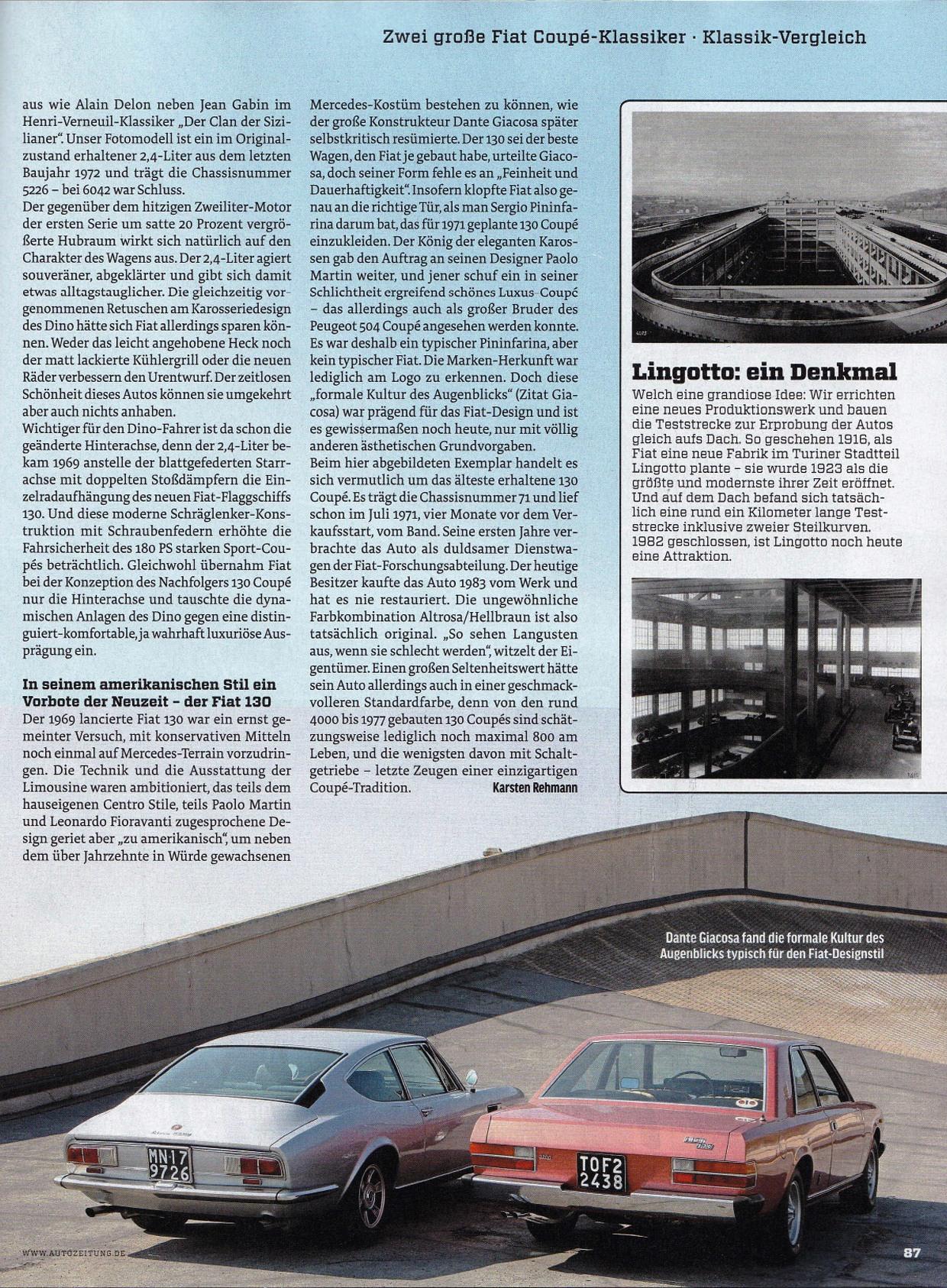 Auto Zeitung Fiat 130