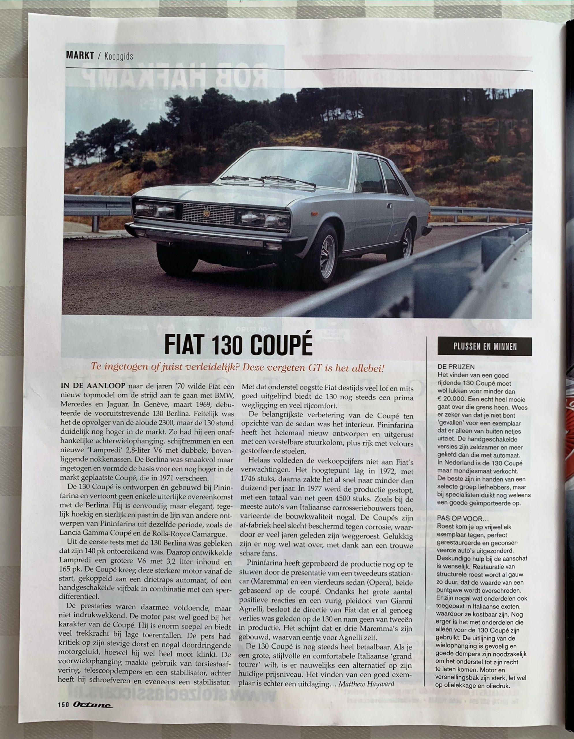 Octane koopwijzer Fiat 130
