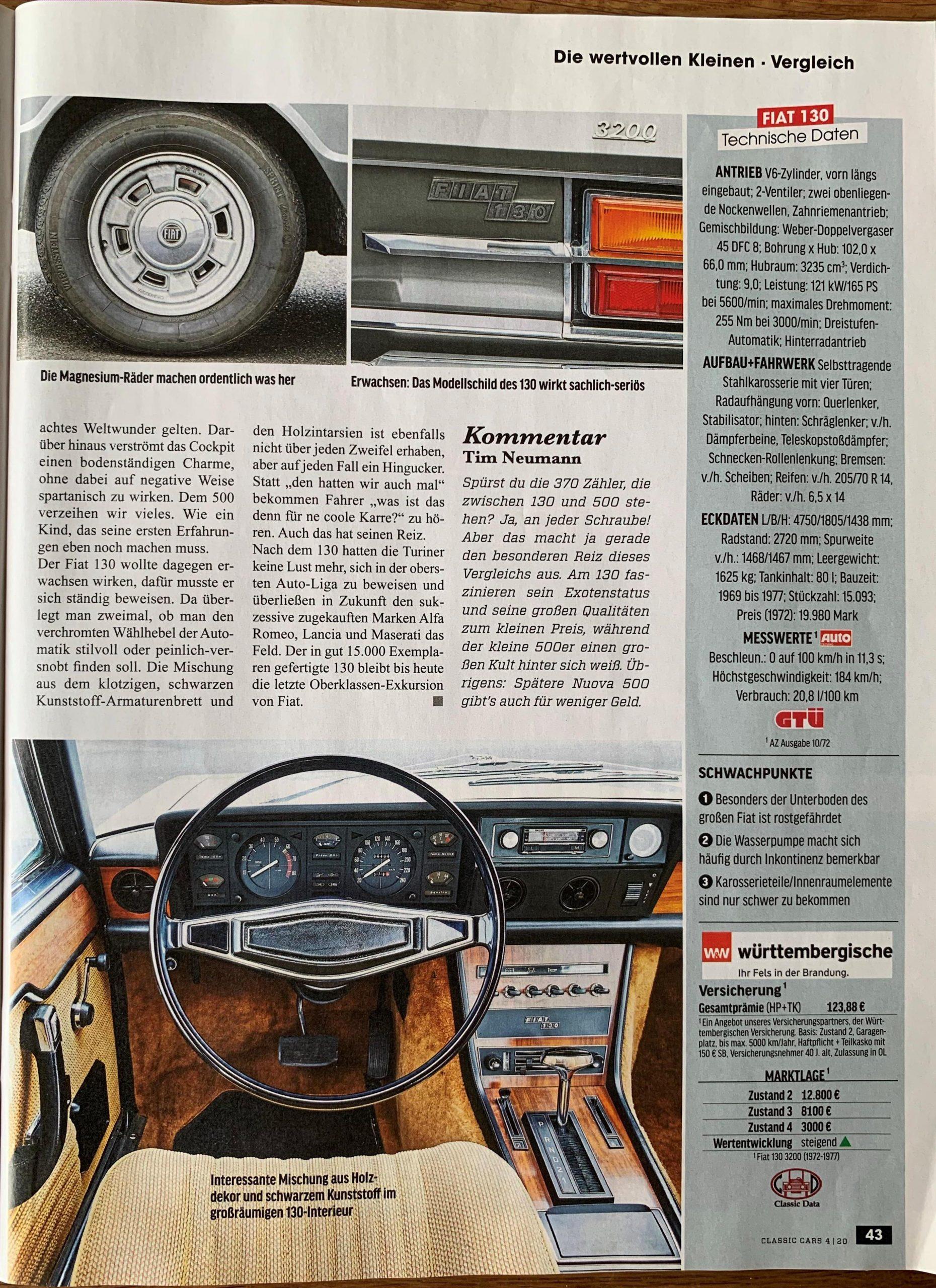 ClassicCars 04-2020 Fiat 130
