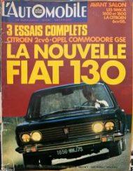 L'Automobile (Aout – 1970)