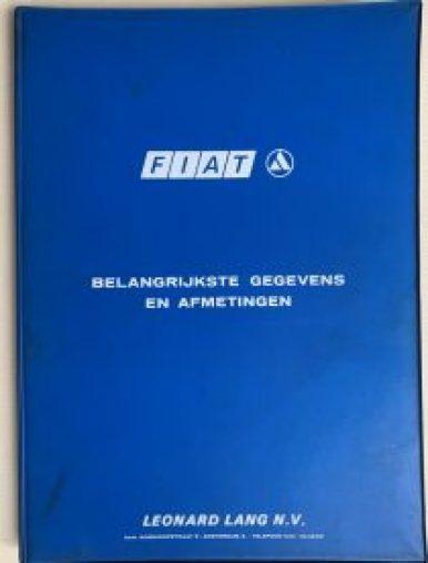 FIAT belangrijkste gegevens en afmetingen klein