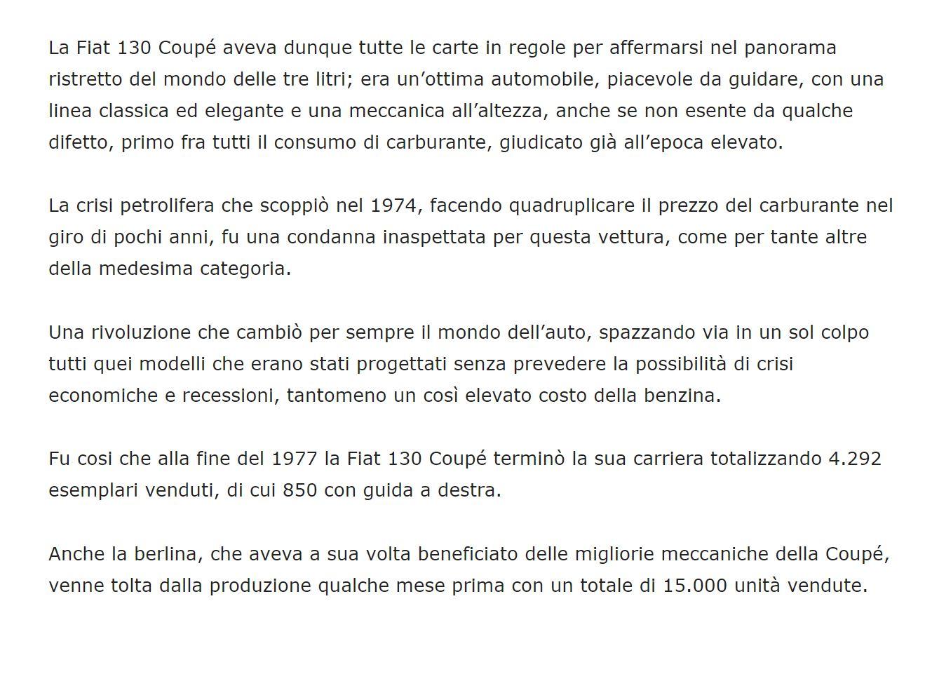 Autotecnica: Fiat 130
